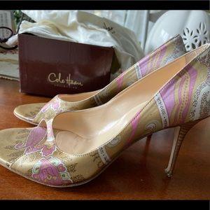 Cole Haan peep-toe heels